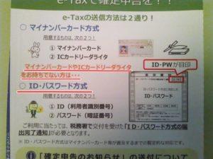 税務署ハガキe-Tax