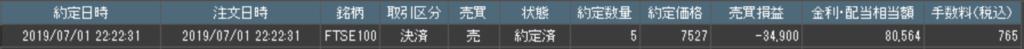 くりっく株365収支20190701